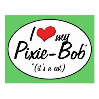 ¡Es un gato! Amo a mi Duendecillo-Bob Postal