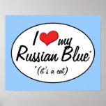 ¡Es un gato! Amo mi azul ruso Impresiones