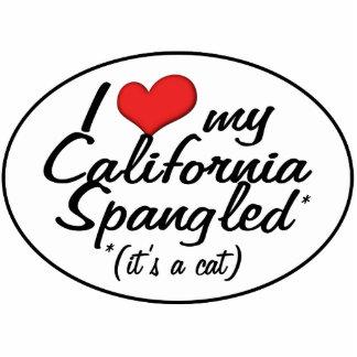 ¡Es un gato! Amo mi California Spangled Escultura Fotográfica