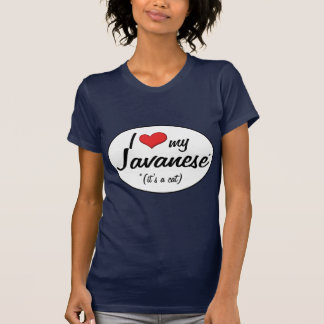¡Es un gato Amo mi Javanese Camisetas