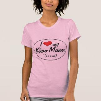 ¡Es un gato! Amo mi Khao Manee Camisetas