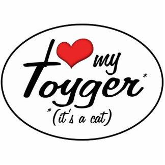 ¡Es un gato! Amo mi Toyger Adorno Fotoescultura