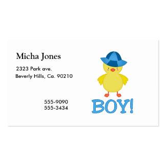 Es un gorra del azul de Duckie del bebé Tarjeta De Visita