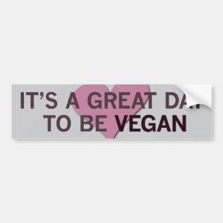 ¡Es un gran vegano del día 2 B! Pegatina Para Auto