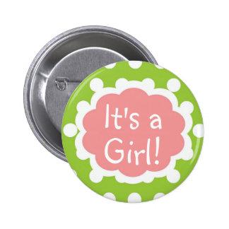 ¡Es un Gril!  Botón de Gril del bebé Pin Redondo De 2 Pulgadas