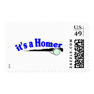 Es un home run sello postal