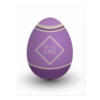 es un huevo de la cigüeña del chica postales