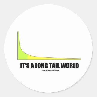Es un humor del gráfico de la ley de potencia pegatina redonda