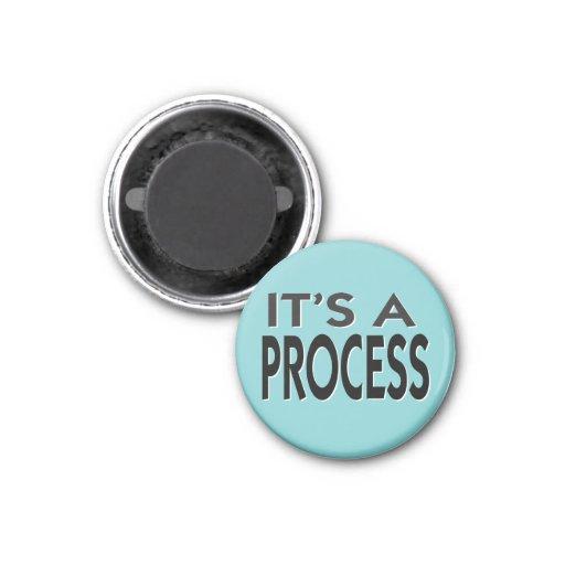 Es un lema de motivación de proceso imán de frigorifico