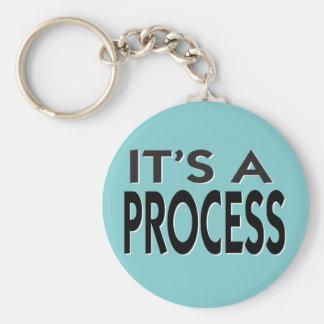 Es un lema de motivación de proceso llavero redondo tipo pin