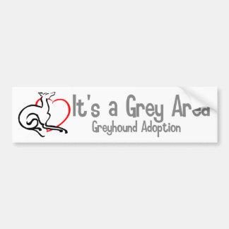 Es un logotipo del área gris - de par en par pegatina para auto