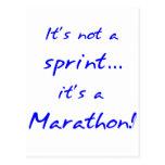Es un maratón - azul postales