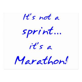 Es un maratón - azul tarjeta postal