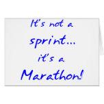 Es un maratón - azul tarjetas