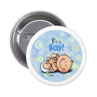 Es un muchacho - botón de la enhorabuena pins