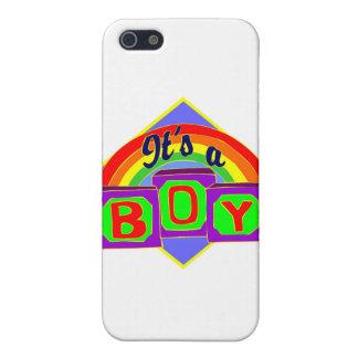 Es un muchacho con colores del arco iris iPhone 5 fundas