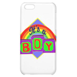 Es un muchacho con colores del arco iris