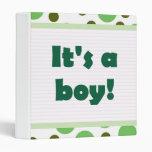 ¡Es un muchacho! Diseño del punto verde claro