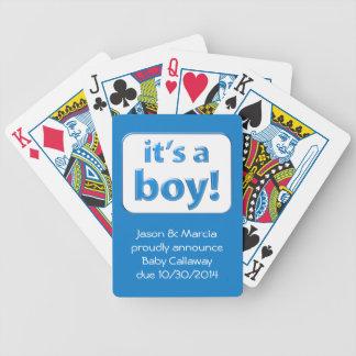 ¡Es un muchacho El género del bebé revela tarjeta Barajas