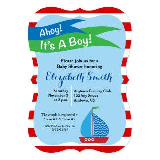 Es un muchacho, fiesta de bienvenida al bebé invitaciones personales