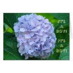 ¡Es un muchacho! Flores del azul de las Tarjeta De Felicitación