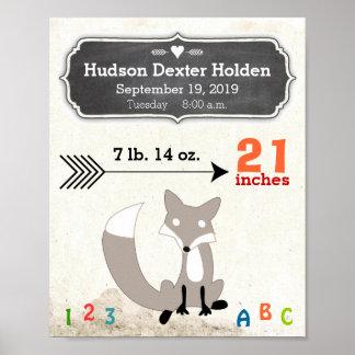 ¡Es un muchacho! Fox lindo del Stats del nuevo beb Poster