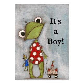 ¡Es un muchacho! - Invitación del nacimiento