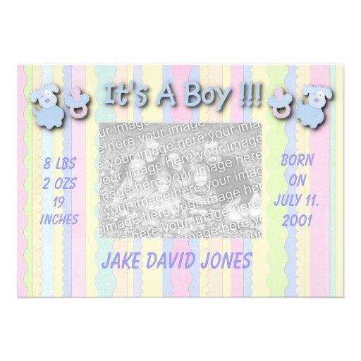 Es un muchacho -- Invitación del nacimiento