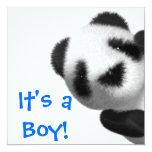 ¡Es un muchacho! Invitación del oso de peluche
