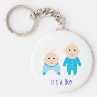 Es un muchacho: Llavero recién nacido del bebé