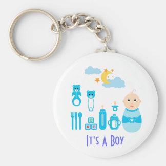 Es un muchacho: Llavero recién nacido del cuarto d