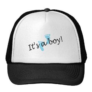 Es un muchacho (los pies azules) gorras de camionero