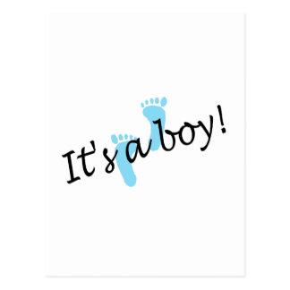 Es un muchacho (los pies azules) postales