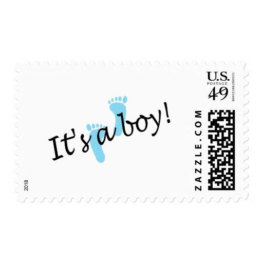 Es un muchacho (los pies azules) sellos