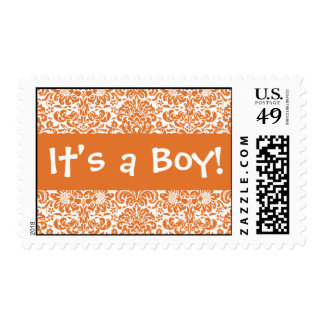 ¡Es un muchacho! Mandarina y franqueo blanco del Sello Postal