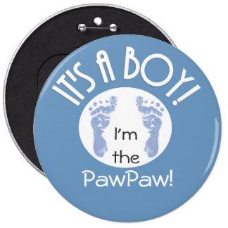 ¡Es un muchacho! Nuevo botón del bebé para los par Pin