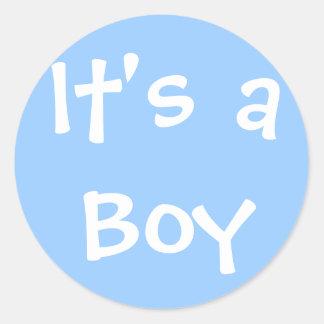 Es un muchacho pegatinas redondas