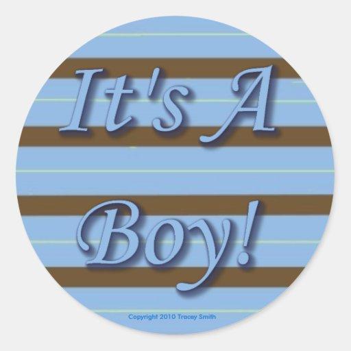 ¡Es un muchacho! Pegatinas por los estudios de Pegatina Redonda