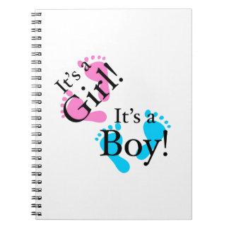 Es un muchacho que es un chica - bebé recién nacid libretas espirales