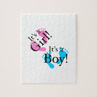 Es un muchacho que es un chica - bebé recién puzzle con fotos