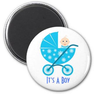 Es un muchacho: Reserva recién nacida del bebé el Imán Redondo 5 Cm