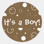 ¡Es un muchacho! Sello del pegatina del sobre de