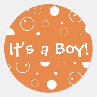 ¡Es un muchacho Sello del pegatina del sobre de l