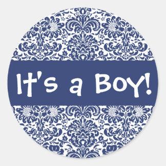¡Es un muchacho! Sello del pegatina del sobre del