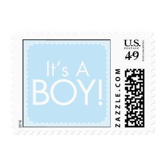 Es un muchacho sellos postales
