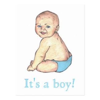 ¡Es un muchacho! Tarjeta Postal