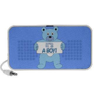 Es un oso azul del muchacho iPhone altavoz