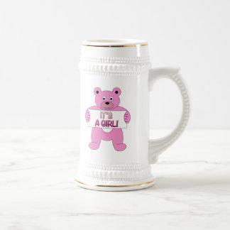 Es un oso del rosa del chica taza de café