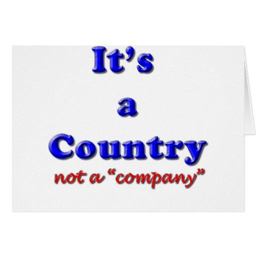 Es un país felicitacion