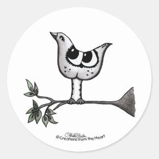 ¡Es un pájaro… que es un gato! - Ilusión óptica Pegatina Redonda